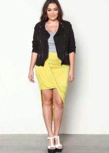 Асимметричная юбка для девушки с фигурой типа Яблоко