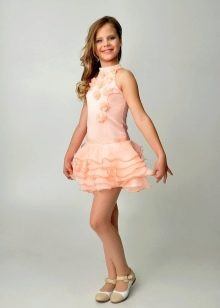 Коктейльное платье для девочки с американской проймой