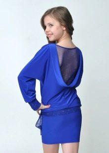 Коктейльное платье для девочки с открытой спиной