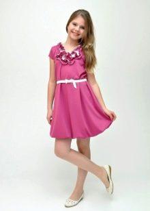 Коктейльное платье для девочки сиреневое