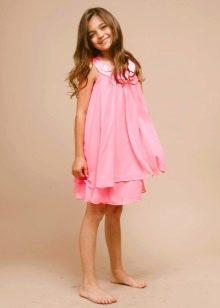 Коктейльное платье для девочки свободное