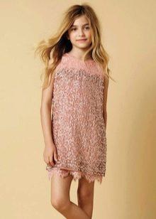 Коктейльное платье для девочки с бахромой