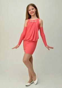 Коктейльное платье для девочки в стиле Чикаго