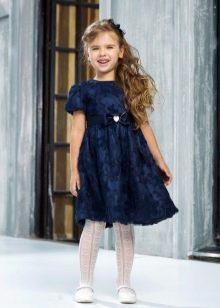 Коктейльное синее платье татьянка для девочки