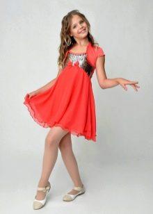Коктейльное платье для девочки в стиле ампир