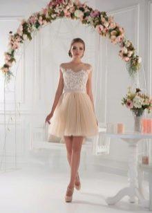Коктейльное платье для девочки айвори