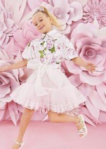 Коктейльное платье-рубашка для девочки