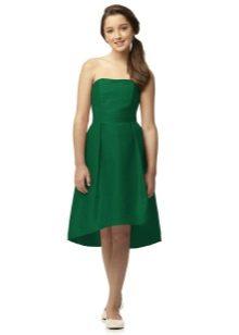 Коктейльное платье для девочки асимметричное