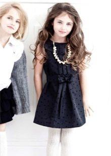 Черное коктейльное платье для девочки