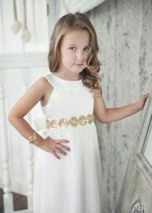 Коктейльное платье для девочки белое