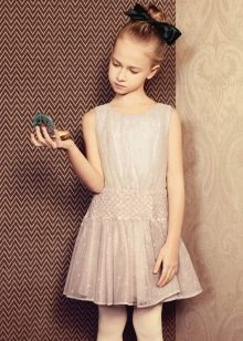 Коктейльное платье для девочки беж