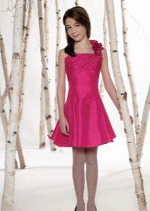 Коктейльное платье для девочки короткое рыбка
