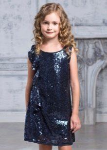 Коктейльное платье для девочки прямое