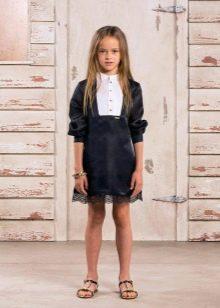 Атласное коктейльное платье для девочки
