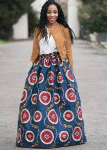 Коническая длинная юбка для очень худых девушек