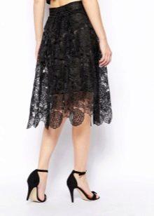 Вечерняя юбка с кружевами