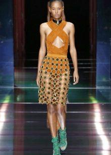 оригинальная кружевная юбка-карандаш