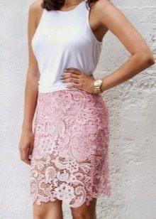 нежная кружевная юбка-карандаш