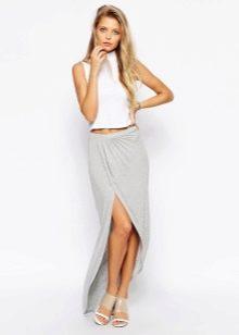 Трикотажная длинная юбка
