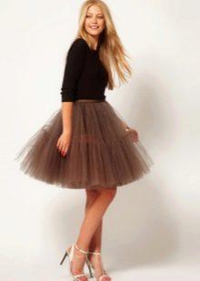 Пышная юбка и жакет