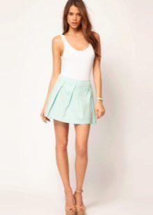 Легкая летняя юбка из натуральной ткани