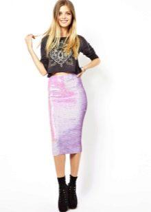 Летняя юбка с пайетками