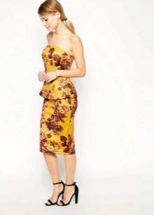 Шелковая юбка с ярким принтом