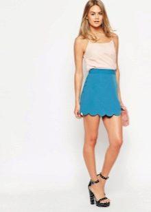 яркая мини юбка для лета