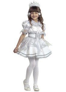 Новогоднее платье для девочки в стиле беби-долл