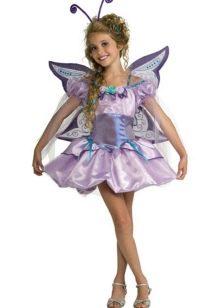 Новогоднее платье для девочки бабочка