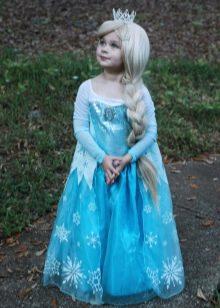 """Новогоднее платье для девочки """"Ельза"""""""