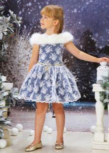Новогоднее платье для девочки с мехом