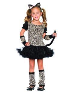 Новогоднее платье для девочки Женщина-кошка