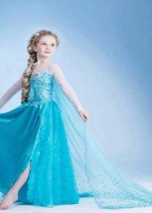 Новогоднее платье для девочки с разрезом