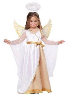 Новогоднее длинное платье Ангел для девочки