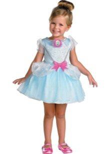 Новогоднее короткое платье Золушка для девочки