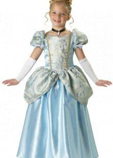 Новогоднее платье Золушка для девочки в пол