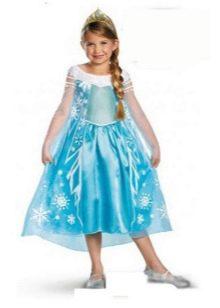 Новогоднее платье Золушка для девочки голубое