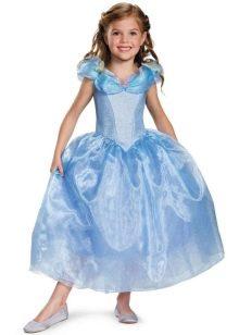 Новогоднее платье Золушка для девочки с рукавами
