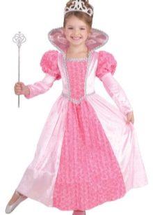 Новогоднее платье принцессы для девочки в пол