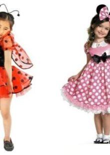 Новогодние платья для девочки Минии божья коровка