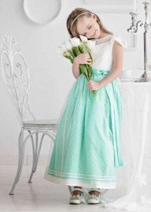 Новогоднее платье для девочки мятное