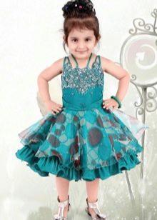 Новогоднее платье для девочки до колен