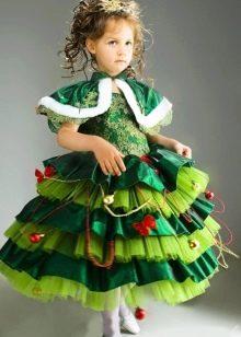 """Новогоднее платье для девочки 6 лет """"Елочка"""""""