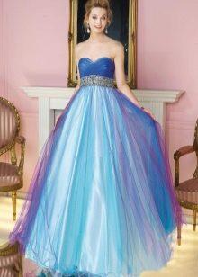 свадебное платье из тафты с переливами