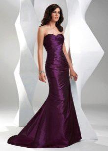 лиловое вечернее платье из тафты