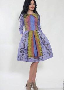 яркое платье из тафты
