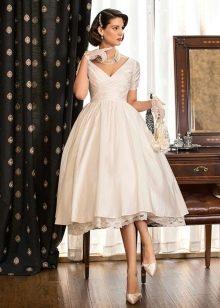белое платье из шелковой тафты