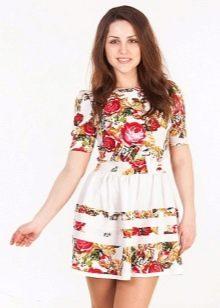 летнее платье из хлопковой тафты
