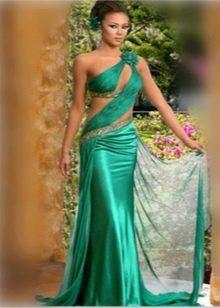 платье из одноцветной атфты